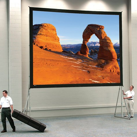 "Da-Lite 99802 Heavy Duty Fast-Fold Deluxe 16:9 Screen System, 8'6"" X 14'4"" High Contrast Da-Tex 99802"