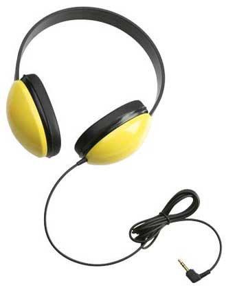 Califone International 2800-YL Listening First Stereo Headphones in Yellow 2800-YL