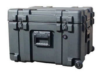 SKB Cases 3R2423-17B-CW Roto Mil-Std Waterproof Case with Foam and Wheels 3R2423-17B-CW