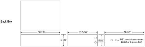 Renkus-Heinz CFX42-BACKBX  18 Gauge Metal Backbox for CFX42 2 Way Stairstep Speaker CFX42-BACKBX