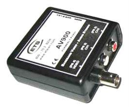 ETS ETS-AV900 Basband BNC Video & RCA Stereo Audio Balun ETS-AV900