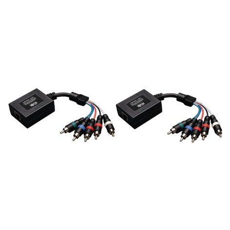 Tripp Lite B136-101 Component Video with Stereo Audio Extender over UTP Cat 5 / Cat 6 Transmitter and Receiver B136-101