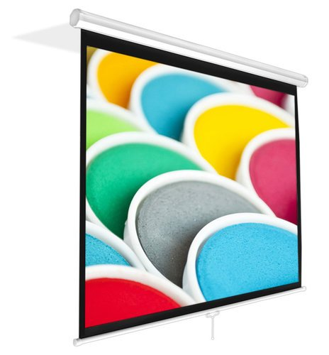 """Pyle Pro PRJSM7206 Universal 72"""" Roll-Down Pull-Down Manual Projection Screen (42.5'' x 56.6''), in Matte White PRJSM7206"""
