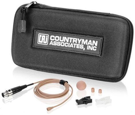 Countryman B3W5FF05L-EV B3 Low Sensitivity Omnidirectional Lapel Microphone in Light Beige for EV 2000 Series, 2500 Series B3W5FF05L-EV