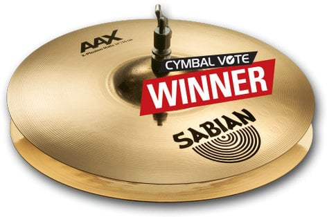 "Sabian 2140287XB 14"" AAX XPlosion Hi-Hats in Brilliant Finish 2140287XB"