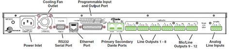 Lectrosonics DNT0212 DNT Series 32 Input 16 Ouptut Dante Network Processor DNT0212