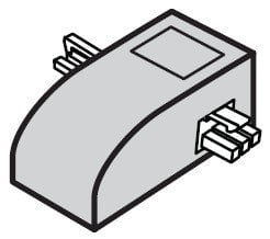 Philips Color Kinetics 108-000035-10 5 Pack of End to End Connectors in White for eW Profile Powercore 108-000035-10