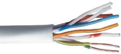 Liberty AV Solutions 24-4P-P-L6-EN-BLU 1000 ft Reel of Cat6 U/UTP EN Series 23 AWG 4 Pair Unshielded Cable 24-4P-P-L6-EN-BLU