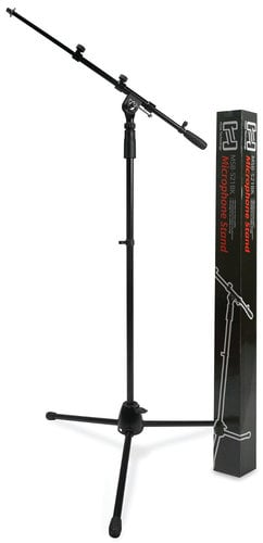 Hosa MSB521BK  Tripod Base Microphone Stand with Boom Arm, Black MSB521BK
