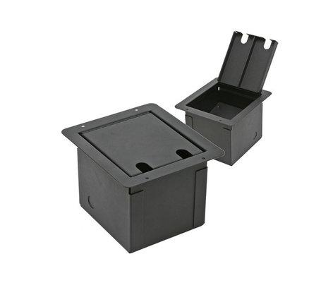 Elite Core Audio FB-BLANK Recessed Floor Box with Customizable Plate FB-BLANK