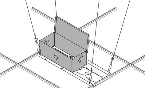Chief Manufacturing CMA471  Plenum Rated Large Above-Tile Storage Enclosure CMA471
