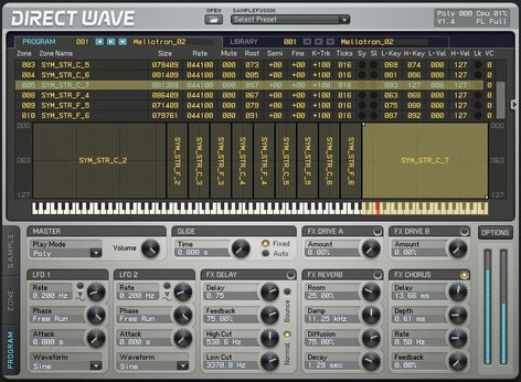 Image Line DirectWave Sampler Software Virtual Instrument IL-DIRECTWAVE