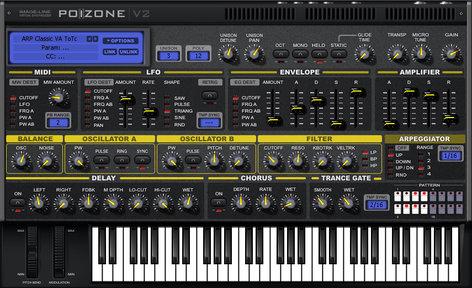 Image Line Poizone Subtractive Synthesizer Software Virtual Instrument IL-POIZONE