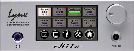 Lynx Studio Technology Hilo TB Reference A/D D/A Converter System with Thunderbolt in Silver HILO-TB-SILVER