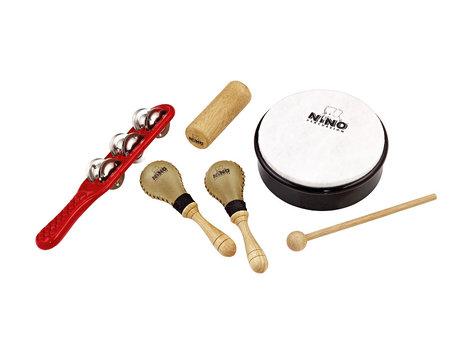 NINO Percussion NINOSET1 6-Piece Kid's Percussion Kit NINOSET1