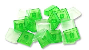 PI Engineering, Inc. XK-A-004-GR-R 10-Pack of Keycaps in Green XK-A-004-GR-R