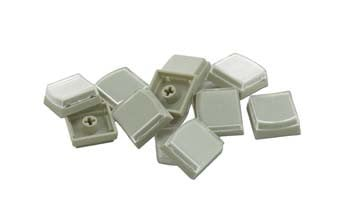 PI Engineering, Inc. XK-A-004-R 10-Pack of Keycaps in Beige XK-A-004-R