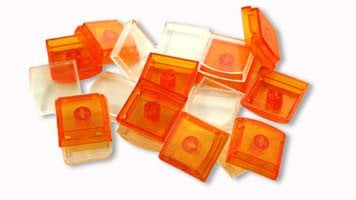 PI Engineering, Inc. XK-A-004OR-R 10-Pack of Keycaps in Orange XK-A-004OR-R