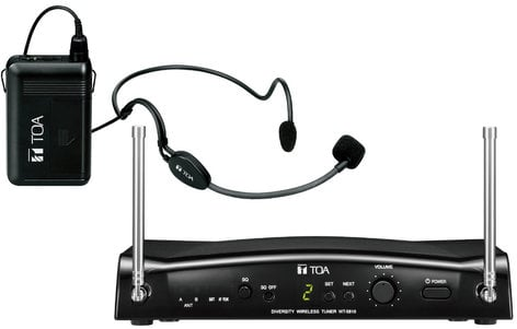 TOA WS-5325H E01 5000 Series 16 Channel UHF Wireless Headset Microphone System WS5325HE01