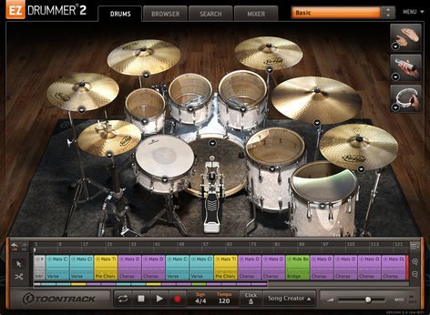 Toontrack EZ Drummer 2 [UPGRADE FROM EZ DRUMMER LITE] Drum Software Virtual Instrument EZ-DRUMMER-2-UPGRD