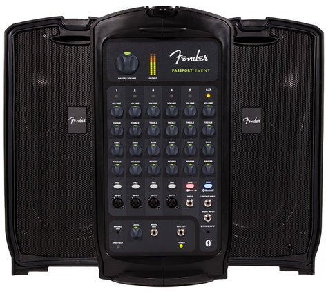 Fender PASSPORT-EVENT Passport EVENT 7 Channel 375 Watt Portable PA System with Bluetooth PASSPORT-EVENT
