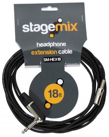 "Elite Core Audio EC-HEX18 18 foot Headphone Extension Cable, Female 1/8"" to Male 1/4"" EC-HEX18"