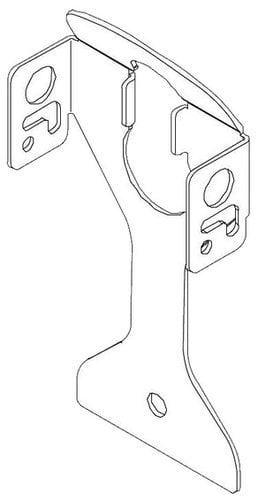 Chief PAC136B Click-Connect Locking Flag Kit in Black PAC136B