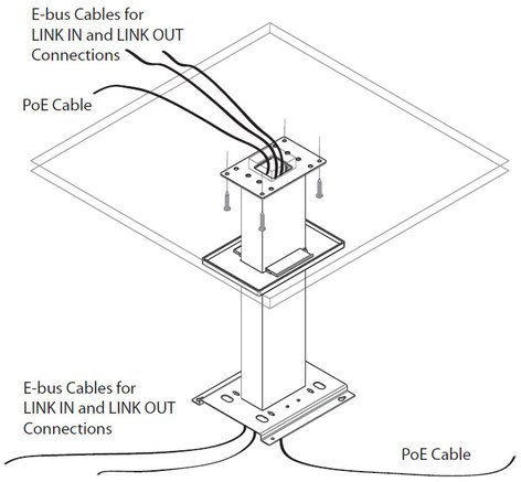 """ClearOne 910-001-005-12 Ceiling Mount Kit with 12"""" Spanner for Beamforming Microphone Array 910-001-005-12"""