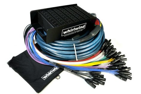 Whirlwind ME-16-4-XL-050 50 ft. 16 x 4 Fan to Box Snake with XLR returns ME-16-4-XL-050