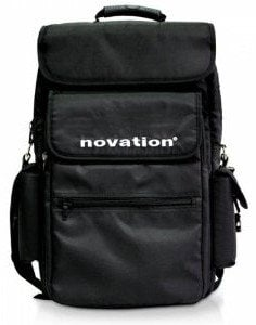 "Novation NOVATION-BAG-61-BLK Soft Carry Bag for Novation 61 Key Controllers and 15"" Laptops, Black NOVATION-BAG-61-BLK"