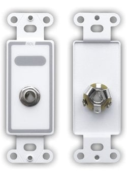 """Radio Design Labs D-1/4F Single-Gang Decora Wall Plate with 1x Stereo 1/4"""" Phone Jack D-1/4F"""
