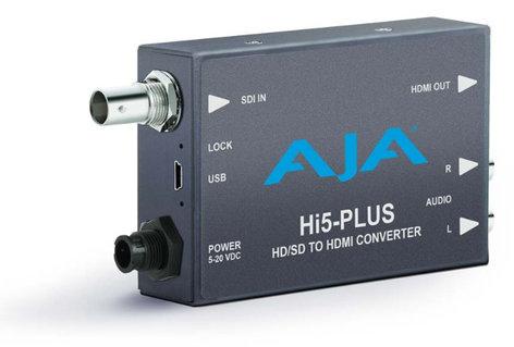 AJA Video Systems Inc Hi5-Plus 3G-SDI to HDMI Mini Converter with Power Supply HI5-PLUS