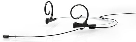 DPA Microphones FID88B34-2 d:fine Dual Ear Cardioid Headset Microphone with Hardwired 3.5mm Locking Connector and 120mm Long Boom Arm, Black FID88B34-2