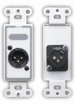 Radio Design Labs DXLR3M Connector Plate with 3-Pin XLR-M DXLR3M
