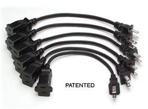 RDL EC6  6 AC power extension cords EC6