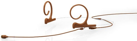 DPA Microphones FIO66C10-2 d:fine Dual Ear Omnidirectional Headset Microphone with Hardwired TA4F Connector and 110mm Long Boom Arm, Brown FIO66C10-2