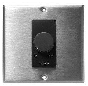 Lowell 150LVCS-DSB  150 Watt Stereo Attenuator for 25/70/100 Volt Systems with Black Decora Subplate 150LVCS-DSB