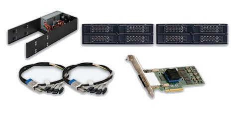 """Sonnet MR-STO-X8SSD Mobile Rack Device Mounting Kit with (2) 4x2.5"""" Hot-Swap Drive Cages MR-STO-X8SSD"""