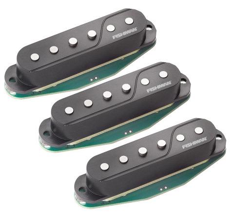 Fishman Fluence Single-Width for Strat 3-Pack of Single-Coil Electric Guitar Pickups in Black PRF-STR-BK3