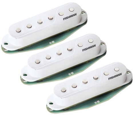 Fishman Fluence Single-Width for Strat 3-Pack of Single-Coil Electric Guitar Pickups in White PRF-STR-WH3