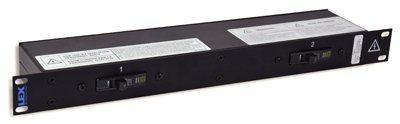 Lex Products Corp PRM1TNTN-8CA  2 PowerCONs into Duplexes 1RU Rackmount Power Distributor PRM1TNTN-8CA