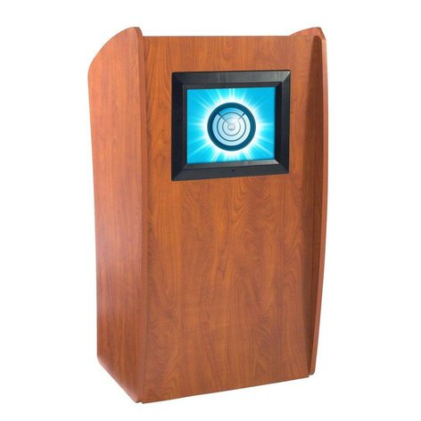 """Oklahoma Sound Vision Lectern with 15"""" Screen 612-OKS"""