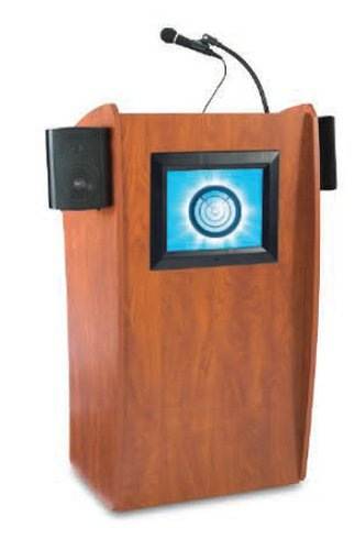 "Oklahoma Sound Vision Lectern with 15"" Screen & Sound System 612-S"