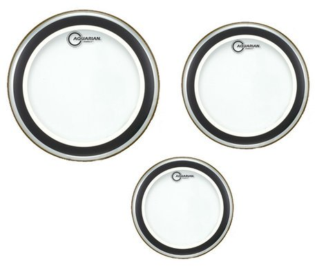 "Aquarian Drumheads SX-B 3-Pack of Studio-X Tom Tom Drumheads in Clear: 12"",13"",16"" SXB"