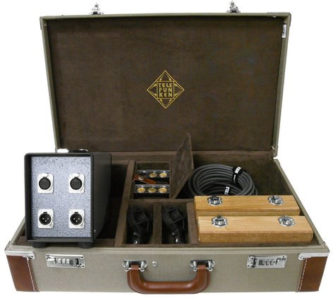 Telefunken Elektroakustik ELA M 260 Stereo Set Matched Pair Small Diaphragm Tube Condenser Microphones with Interchangeable Capsules ELA-M-260-STEREO