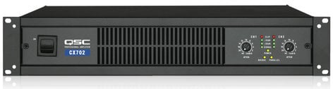 QSC CX702-220 2-Channel Power Amplifier, 425 Watts @ 8 ohms, 220 Volt CX702-220