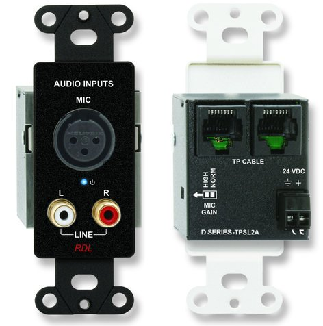 Radio Design Labs DB-TPSL2A  Active Two Pair Audio Sending Module with XLR & RCA Inputs DB-TPSL2A