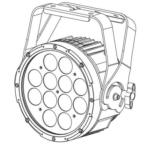 Elation Pro Lighting SIXPAR 200IP LED Par Fixture with 12x12W RGBAW+UV LEDs SIX-PAR-200-IP