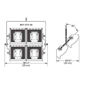 Altman SKY-CYC-04 4 Section SKY CYC Light SKY-CYC-04