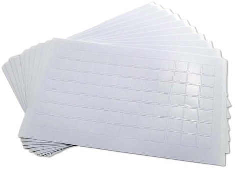PI Engineering, Inc. XK-A-1139-R  10 Pack Blank Stickless Legend Sheets for X-Keys XK-A-1139-R